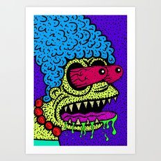 MARGE GRIMMSON.   (THE GRIMMSONS). Art Print