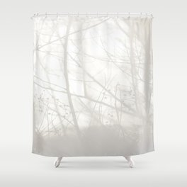 White Woods Shower Curtain