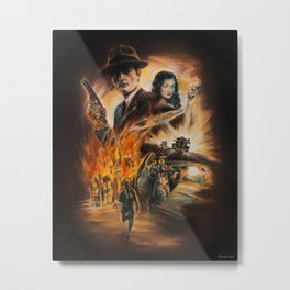 Burning targets Metal Print