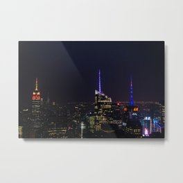 NYC Iconic Night Sky Metal Print