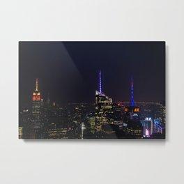 NYC Iconic Night Sky Metal Print