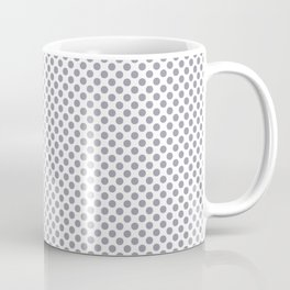 Lilac Gray Polka Dots Coffee Mug