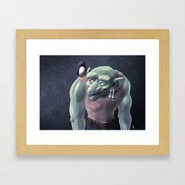 Ogre and Parrot Framed Art Print