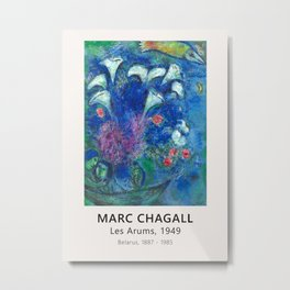 Marc Chagall - Les Arums, 1949 - Exhibition Poster, Museum Metal Print