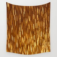 gold glitter Wall Tapestries featuring Gold Glitter 1394 by Cecilie Karoline