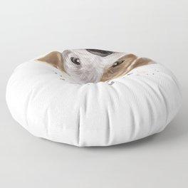 Curious Parson Russell Terrier Dog Floor Pillow