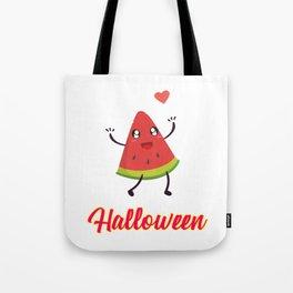 Halloween Watermelon Motivational Design Tote Bag