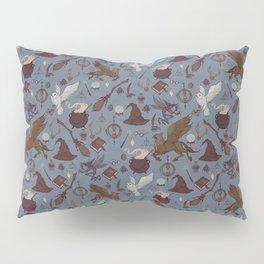 Hogwarts pattern blue Pillow Sham