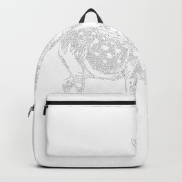 Alice and the Fawn in White with Transparent Background Backpack