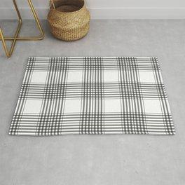 Gray & White Plaid Rug