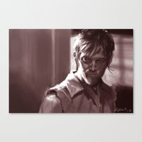 daryl Canvas Prints featuring Daryl  by Jim Gallo