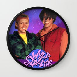 Bill and Ted Wall Clock
