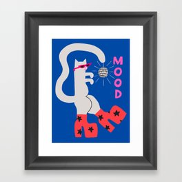 Mood Cat Framed Art Print