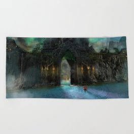The Jade Gates Beach Towel