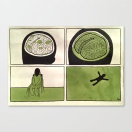 Brain Slime Canvas Print