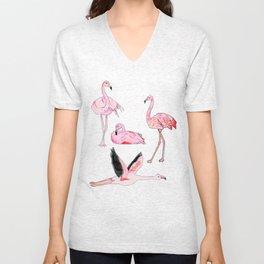 Flamingos Forever Unisex V-Neck