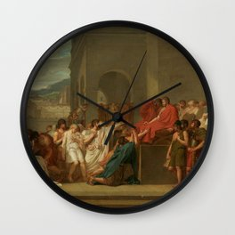 Brutus Condemning His Sons to Death by Guillaume Guillon-Lethière Wall Clock