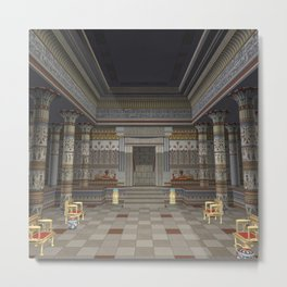 Ancient Egyptian Hall Metal Print