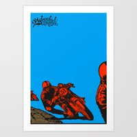 motorcycle Art Prints featuring Motorcycle by bike51design