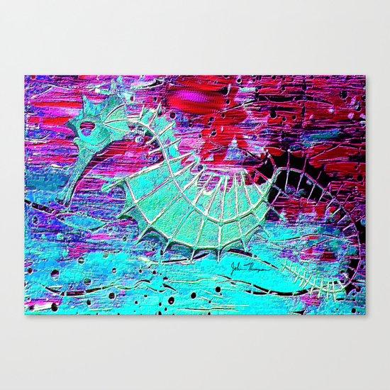 Seahorse Skeleton Canvas Print