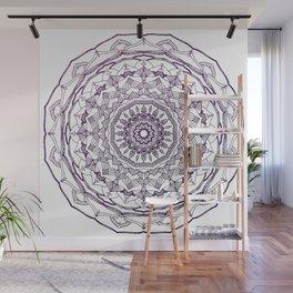 Purple Mandala Wall Mural
