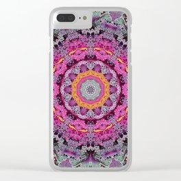 Kale mandala Clear iPhone Case