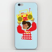 transistor iPhone & iPod Skins featuring Trini Transistor  by The Pairabirds