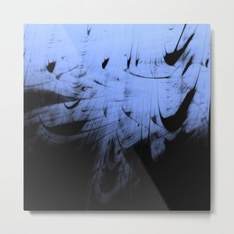 Misty Night at Abstract Boat Marine Metal Print