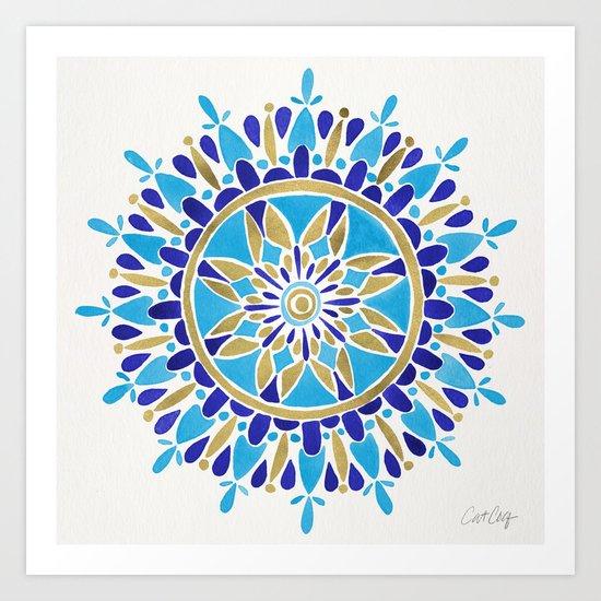 Royal Blue Mandala Art Print