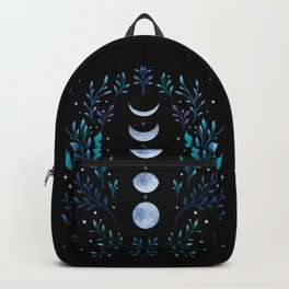 Moonlight Garden - Blue Backpack