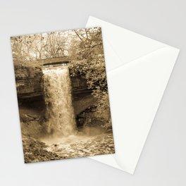 Minnehaha Falls - Sepia Stationery Cards