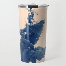 smoke abstract Alberto Seveso paint in water simple background  Travel Mug
