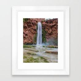 Mooney Falls - Grand Canyon Framed Art Print