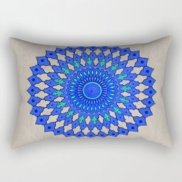 Circle Tile Pattern Rectangular Pillow