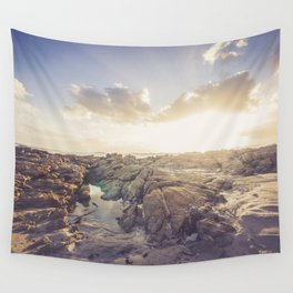 Golden hour, rocky beach Landscape - Photography #Society6 Wall Tapestry