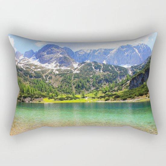 Mountain landscape. Rectangular Pillow