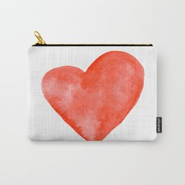 Red Watercolor Heart Carry-All Pouch