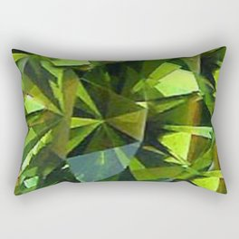 AUGUST BABIES GREEN PERIDOT BIRTHSTONE GEM Rectangular Pillow