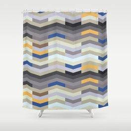 Modern Chevron - Peek O' Blue Shower Curtain