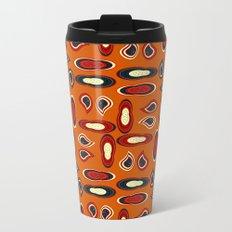 Orange paisley Metal Travel Mug