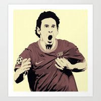 messi Art Prints featuring Messi by Renan Lacerda