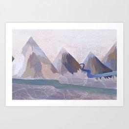 Mountains - Bethany Walrond Art Print