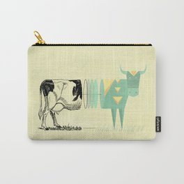 the black and white cow who wanted to be colorfully geometric  Carry-All Pouch
