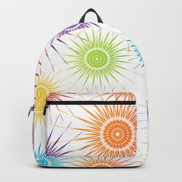 Colorful Christmas snowflakes pattern- holiday season gifts Backpack