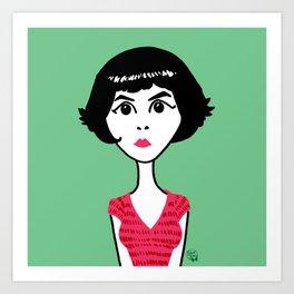 Audrey Tautou Art Print