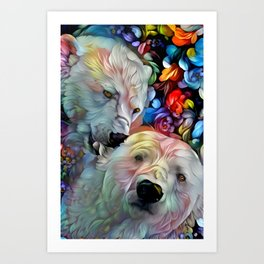 I'm Just Gonna Nibble on Your Ear Maybe a Little Bit... Art Print
