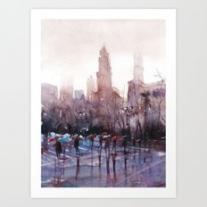 New York - Rainy day Art Print