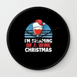 I'm dreaming of a wine Christmas Wall Clock