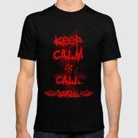 Keep Calm & Call Daryl Dixon!!! MEDIUM Black Mens Fitted Tee