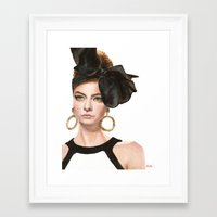 moschino Framed Art Prints featuring Moschino Fall 2012 by Kafie Martin